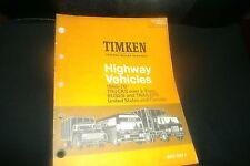 1960 - 1970 TIMKEN HIGHWAY VEHICLES TRUCKS BUSES TRAILERS BEARINGS CATALOG W APP