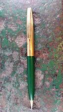 Green Sheaffer Imperial Mechanical Pencil ~ White Dot ~ Gold Trim