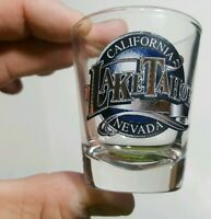 Lake Tahoe California Nevada collectible shot glass.  cool graphic.