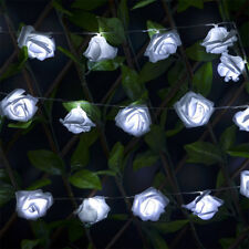 USB Lade LED Vorhang Lichterketten String Rose Lampe Party Decor mit 20 LED DE