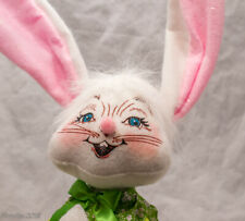 Happy Colorful Sitting Easter Bunny Figurine Cute Adorable Collector Decor