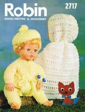 Vintage Baby Dolls Knitting Pattern  4 & 8 ply