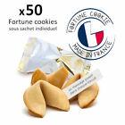 50 fortune cookies biscuits porte-bonheur Made in France - messages en français