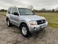 2005 05 MITSUBISHI SHOGUN 3.2 DID 4 WORK 4X4 SWB MANUAL SILVER SPARES OR REPAIR