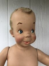Vintage Antique Child Mannequin Standing Child Boy 32� W Stand 1940's Healthtex