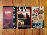(Lot3) Apocalypse Now 79 Bat 21 89 D-Day 90 VHS RARE ORIGINAL HTF OOP! War