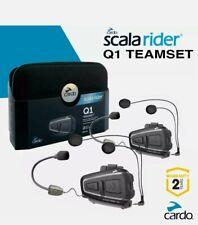 Cardo Scala Rider Q1 Motorcycle Bluetooth Helmet sets (2 sets)
