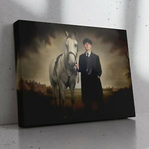 PEAKY BLINDERS - Tommy Shelby with Grace's Secret Horse Painting Canvas Print