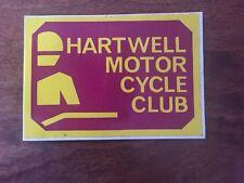 HARTWELL M/C CLUB VINTAGE STICKER 110X 75MM