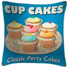 NEW Cupcakes Party Cakes Art Print Retro Cushion Martin Wiscombe
