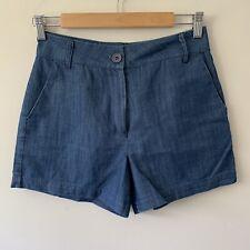 Princsss Highway Dangerfield Blue High Waisted Shorts Size 8 Cotton Retro