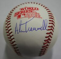 Alan Trammell Autographed Original 1984 World Series Ball  ~ JSA Certified Auto