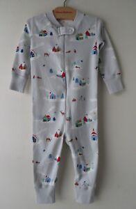 HANNA ANDERSSON Baby Organic Zip Sleeper Winter Wonderland 75 12-18 months NWT