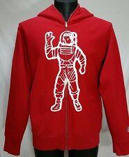 BILLIONAIRE Boys Club  ASTRONAUT Full Zip Hoodie Men's Size M Red bbc Sweatshirt