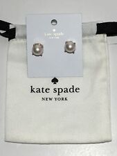 NEW Kate Spade New York Pearl Blush Stud Earrings Rose Gold Plated