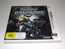 Metroid Prime Federation Force Nintendo 3DS 2DS Game *Complete*