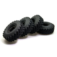"4Pcs 2.2"" 1/10 RC Crawler Tires tyre 40mm For Axial Wraith Beadlock Wheels Rim"