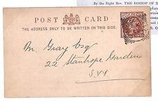 Y205 1887 GB * Charing Cross * Cartolina Canada postale Cancelleria SQR CERCHI PTS