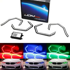 RGB Multi-Color Concept M4 Iconic Style LED Angel Eye Kit w/Relay Wiring For BMW