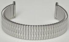 Uhrenarmband Flexband Zugarmband mit Teleskopanschlag Edelstahl 17 bis 22 mm