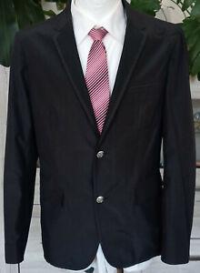 HUGO BOSS Achimo-N Luxus Club Sakko Seide Baumwolle schwarz Gr. 54 *NEUWERTIG*