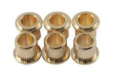 Kluson Guitar Tuner Bushings • Metric • 8.85 mm OD / 6.14 mm ID • Gold (6)