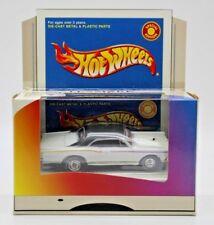 Hot Wheels Lexmark 2000 Special Edition White 1967 Pontiac GTO w/ Real Riders