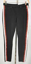 HUE 3X Black Racer Stripe Original Denim Leggings