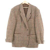 Harris Tweed 100% Laine Marron Veste Blazer Taille US/UK 44 Eur