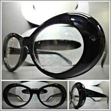 Men or Women VINTAGE RETRO Style Clear Lens Eye Glasses Black Oval Fashion Frame