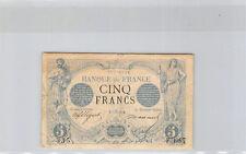 France 5 Francs Noir 5 septembre 1873 F.3087 n° 77155335 Rare