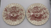 Royal Doulton The Kirkwood Red Dinner Plates Vintage China Made In England