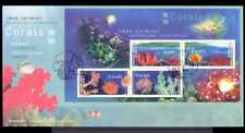 HK/Canada Joint 2002 Coral/Marine/Nature m/s FDC b9513