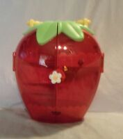 """2003 Bandai Strawberry Shortcake fold out Portable Carrier Berry Sturdy Toy 10"""""""