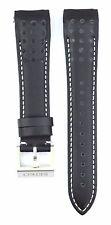 Compatible Seiko Sportura SNAE79P1 21mm Black Genuine Leather Watch Strap SKO110