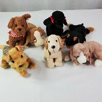 Lot of 7 TY Beanie Babies Dogs Plush Stuffed Animals Toy