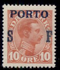 DENMARK #J8 (L9) 10ore SF Postage Due, og, NH, VF, Scott $37.50