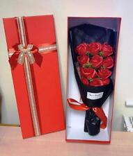 Artificial RED Rose Bouquet Boxed Flowers Floral Valentine Ivy Vine Wedding