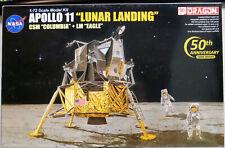 "1969 Apollo 11 ""Lunar Landing"" CSM Columbia & LM Eagle 1:72 Dragon 11002"