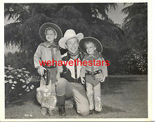 Vintage Roy Rogers & Children Wear Roy & Trigger Outfits '47 CANDID Portrait