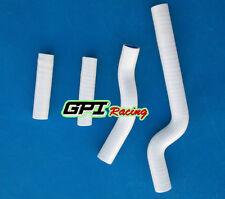 FOR Yamaha YZ250 YZ 250 02-08 03 04 05 06 07 Silicone Radiator Hose white.
