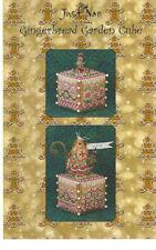 Just Nan Gingerbread Garden Cube Cross Stitch Chart w Embellishments
