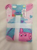 Toddler Girl's Peppa Pig 2 Pcs Fleece Winter Pajamas Long Sleeve Shirt Pink  3t