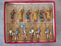 ANCIEN BOITE CBG MIGNOT - 12 SOLDATS HALLEBARDIERS FRANCOIS 1ER