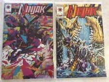 NINJAK 1 & 2 (1993) SIGNED BY JOE QUESADA SHADOW MAN 0 TUROK 0