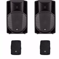 "2x RCF ART735A-MK4 Active 15"" Powered Speaker 1400W Amplified + 2x Covers BUNDLE"