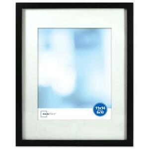 Mainstays 11x14 Matted to 8x10 Linear Frame Black Photo Frame Home Office Decor