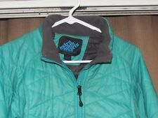 EMS EASTERN MOUNTAIN SPORTS womens large green insulated quilted jacket