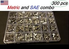 300 Pcs Aluminumrivet Nutkit Rivnut Nutsert Assort 150pcs Metric150pcs Sae
