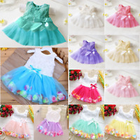 Toddler Kids Girls Princess Dress Flower Party Pageant Baby Dresses Summer 0-6Y